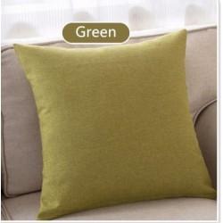 Едноцветна декоративна калъфка за възглавница с  цип -ЛАЙМ от StyleZone