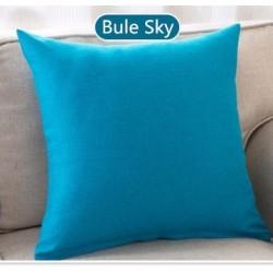 Едноцветна декоративна калъфка за възглавница с  цип - МОРСКО СИНЬО от StyleZone