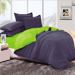 Двуцветно спално бельо от 100% памук ранфорс (тъмносиньо/зелено) от StyleZone