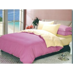 Двуцветно спално бельо от 100% памук ранфорс (светлолилаво/екрю) от StyleZone