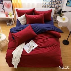 Двуцветно спално бельо от 100% памук ранфорс (бордо/тъмносиньо) от StyleZone