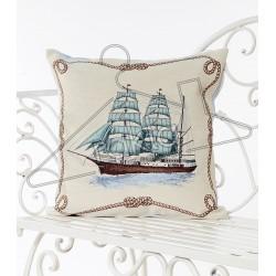 Испанска декоративна възглавница с цип - КОРАБ от StyleZone