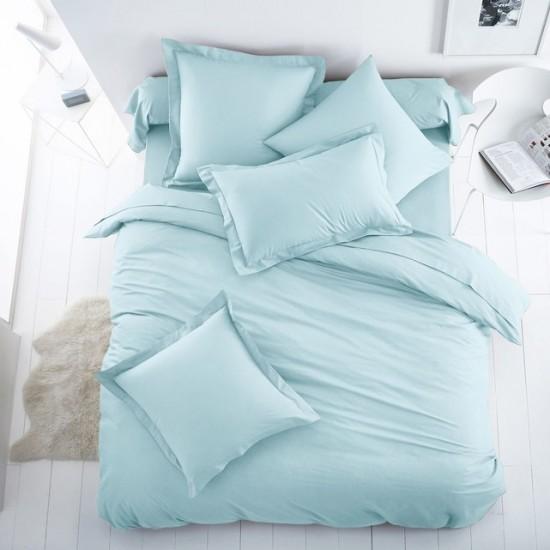 Едноцветно спално бельо от 100% памук ранфорс - ПЕТРОЛЕНО от StyleZone