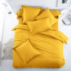 Едноцветно спално бельо от 100% памук ранфорс - ЯРКО ЖЪЛТО от StyleZone