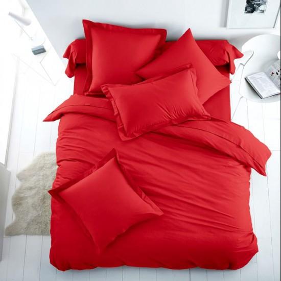Едноцветно спално бельо от 100% памук ранфорс - ЧЕРВЕНО от StyleZone