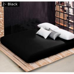 Чаршаф с ластик Ранфорс - Черен от StyleZone