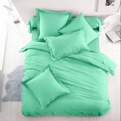 Едноцветно спално бельо от 100% памук ранфорс - ЦВЯТ МЕНТА от StyleZone