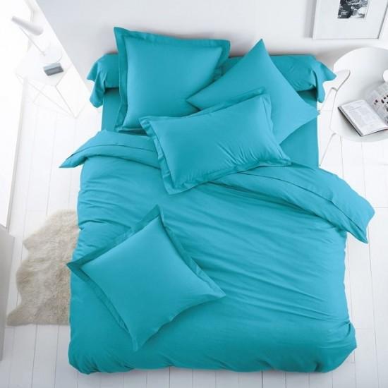 Едноцветно спално бельо от 100% памук ранфорс - МОРСКО СИНЬО от StyleZone