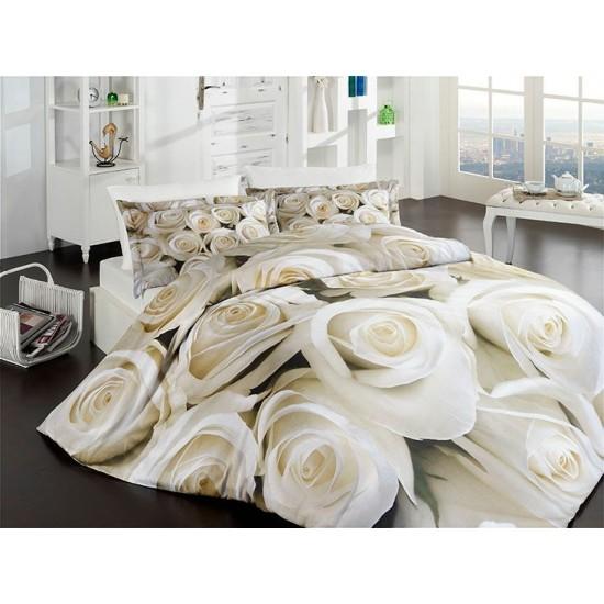 3D Спално Бельо Памучен сатен - БЛАНЧ от StyleZone