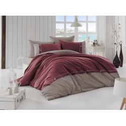 Луксозно спално бельо от висококачествен 100% памук - RAINA BORDO от StyleZone