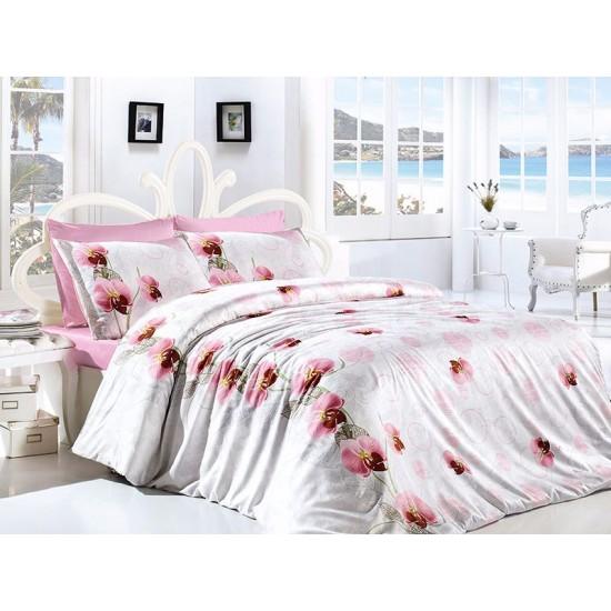 Лимитирана колекция спално бельо от 100% памук  - Leora Pembe от StyleZone