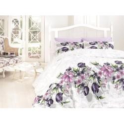 Лимитирана колекция спално бельо от 100% памук - Риела Лила от StyleZone