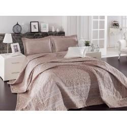 Луксозна кувертюра от 100 % памук - жакард - 07 - ADALISA PUDRA от StyleZone