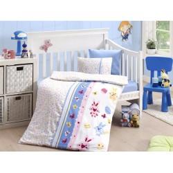 Бебешко спално бельо с одеяло - Sweet toys mavi от StyleZone