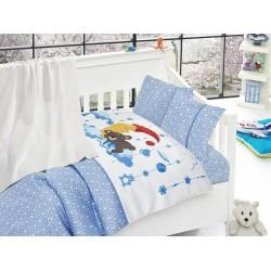 Бебешко спално бельо с одеяло -Sleeper mavi от StyleZone