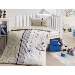 Бебешко спално бельо с органичен памук - Palmy  Lacivert от StyleZone