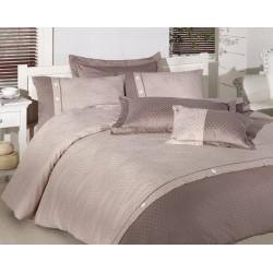 Вип спално  бельо  от висококачествен сатениран памук - Henna Ekru от StyleZone