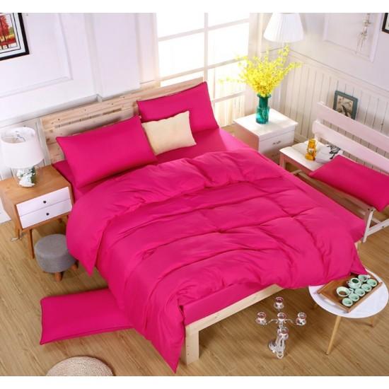 Едноцветно спално бельо със завивка -  ЦИКЛАМА от StyleZone