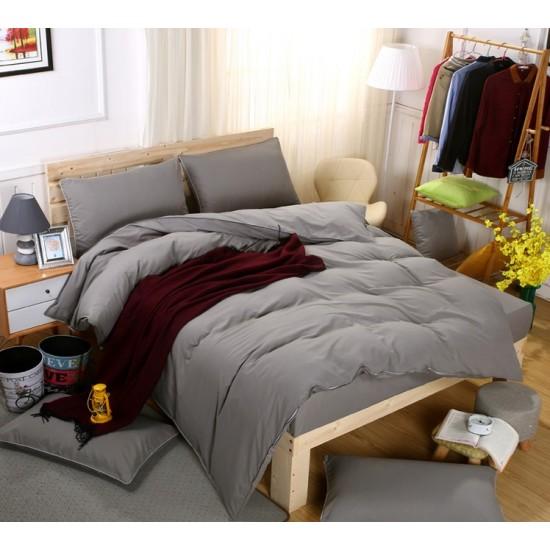 Едноцветно спално бельо със завивка -  ЦВЯТ ГРАФИТ от StyleZone