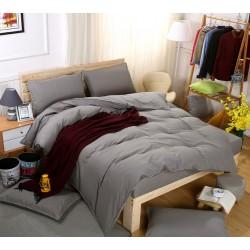 Едноцветно спално бельо със завивка -  СВЕТЛОСИВО от StyleZone