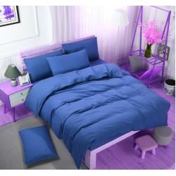 Едноцветно спално бельо със завивка -  ТЪМНОСИНЬО от StyleZone
