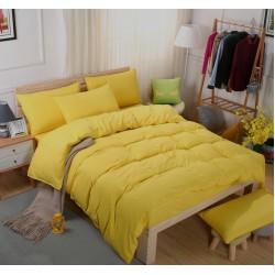 Едноцветно спално бельо със завивка -  СВЕТЛОЖЪЛТО от StyleZone