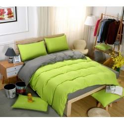 Двуцветно спално бельо със завивка (зелено/графит) от StyleZone
