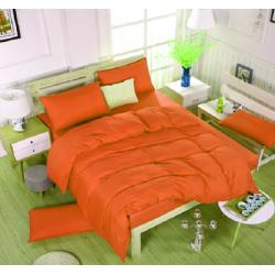 Едноцветно спално бельо със завивка -  ОРАНЖ от StyleZone