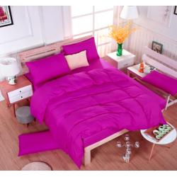 Едноцветно спално бельо със завивка -  ТЪМНОЛИЛАВО от StyleZone
