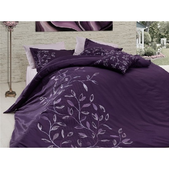 Вип спално  бельо  от висококачествен сатениран памук - Casablanca mor от StyleZone