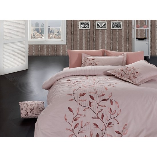 Вип спално  бельо  от висококачествен сатениран памук -Casablanca pudra от StyleZone