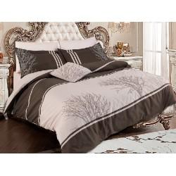 Вип спално  бельо  от висококачествен сатениран памук -Olinda bej от StyleZone