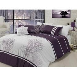 Вип спално  бельо  от висококачествен сатениран памук -Olinda mor от StyleZone