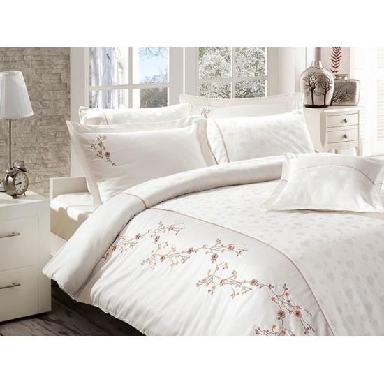 Вип спално  бельо  от висококачествен сатениран памук -Ramira krem от StyleZone