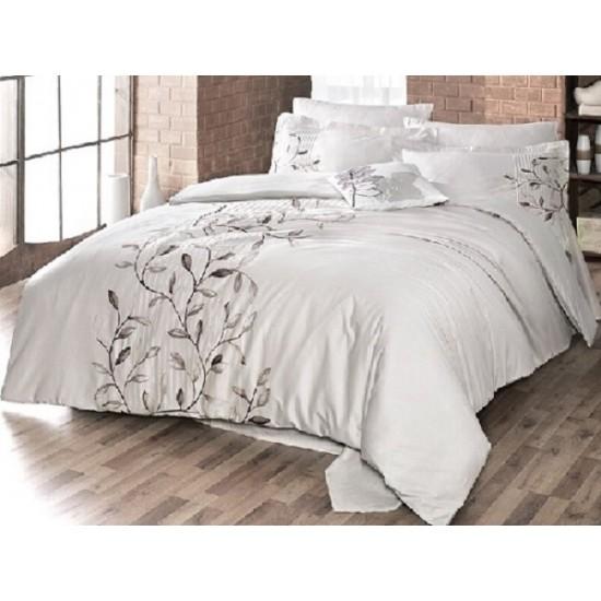 Вип спално  бельо  от висококачествен сатениран памук -Casablanca bej от StyleZone