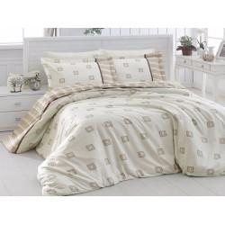 Луксозно спално бельо от сатениран памук - Ares Krem от StyleZone