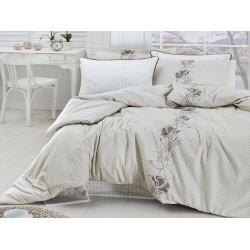 Луксозно спално бельо от сатениран памук - Artemis krem от StyleZone