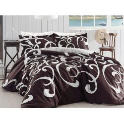Луксозно спално бельо от сатениран памук- Ruya Kahve от StyleZone