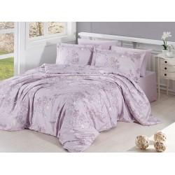 Луксозно спално бельо от сатениран памук- Dolaris violet от StyleZone