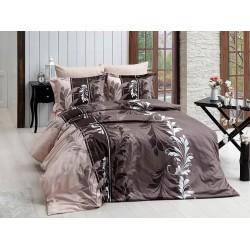 Луксозно спално бельо от сатениран памук- Eylul Kahve от StyleZone