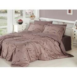 Луксозно спално бельо от сатениран памук- Calisto vizon от StyleZone