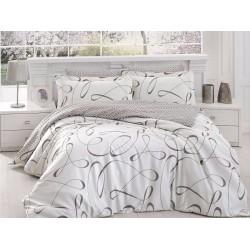 Луксозно спално бельо от сатениран памук- Calisto Krem от StyleZone