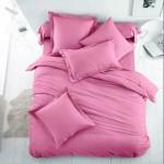 Едноцветно спално бельо от 100% памук ранфорс - БЕЙБИ РОЗОВО от StyleZone