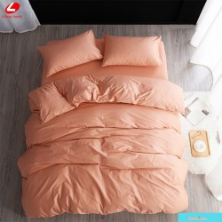 Едноцветно спално бельо от 100% памук ранфорс - ЦВЯТ СЬОМГА от StyleZone