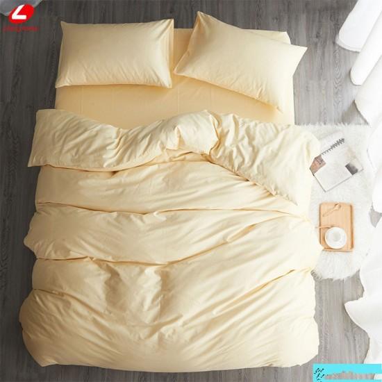 Едноцветно спално бельо от 100% памук ранфорс - ЕКРЮ от StyleZone