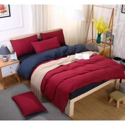 Двуцветно спално бельо със завивка (бордо/черно) от StyleZone