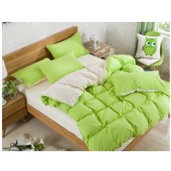 Двуцветно спално бельо със завивка (лайм/екрю) от StyleZone