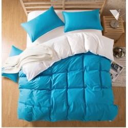 Двуцветно спално бельо със завивка (морско синьо/бяло) от StyleZone