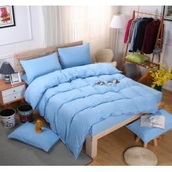 Едноцветно спално бельо със завивка -  СВЕТЛОСИНЬО от StyleZone
