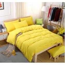 Едноцветно спално бельо със завивка -  ЯРКО ЖЪЛТО от StyleZone